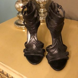 Guess dark silver grey heels